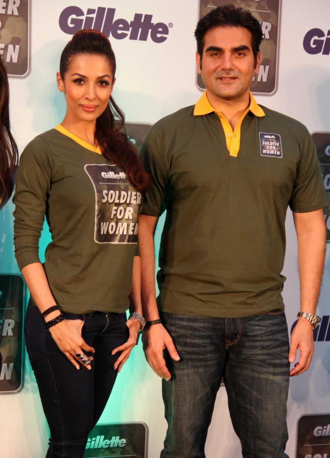 Malaika With Hubby Arbaaz Posed At Gillette's Soldier For Women Promotional Event