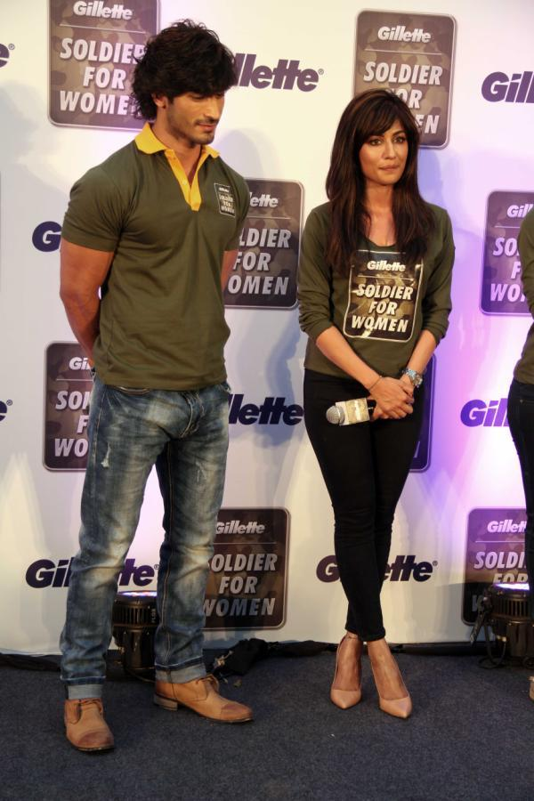 Vidyut And Chitrangada During The Gillette's Soldier For Women Promotional Event
