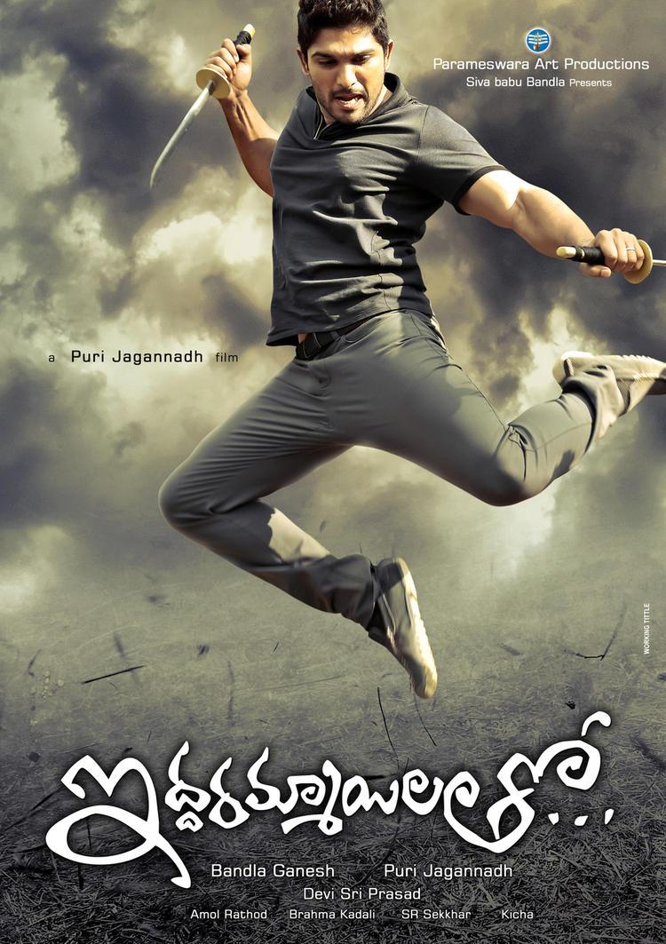 Allu Arjun Action Pose Look In Iddarammayilatho Movie Poster