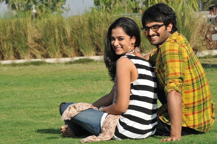 Sudhir Babu And Nandita Cute Smiling Photo Still From Movie Prema Katha Chitram