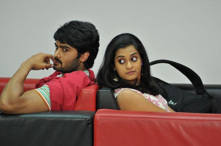 Sudhir Babu And Nandita Nice Expression Photo Still From Movie Prema Katha Chitram