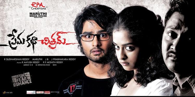 Sudhir Babu And Nandita Shock Look Photo Wallpaper Of Movie Prema Katha Chitram