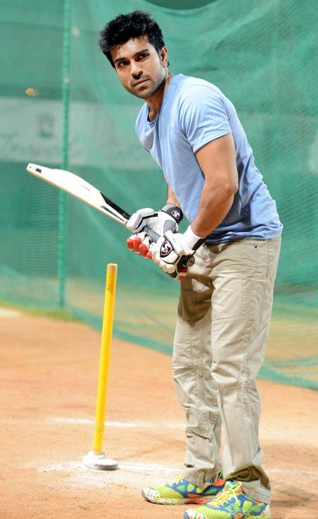 Ram Charan In A Bating Style Photo Clicked During A Practice Session