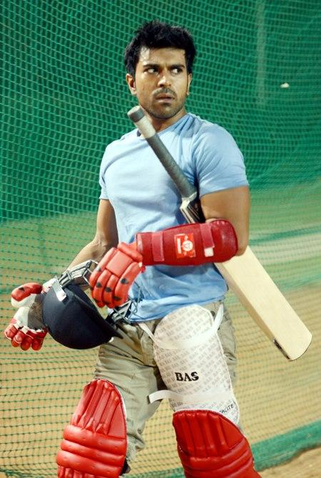 Ram Charan Photo Clicked During A Practice Session For CCL Match