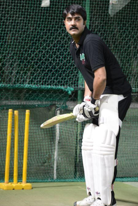 Srikanth In Batting Position Photo Clicked During A Practice Session