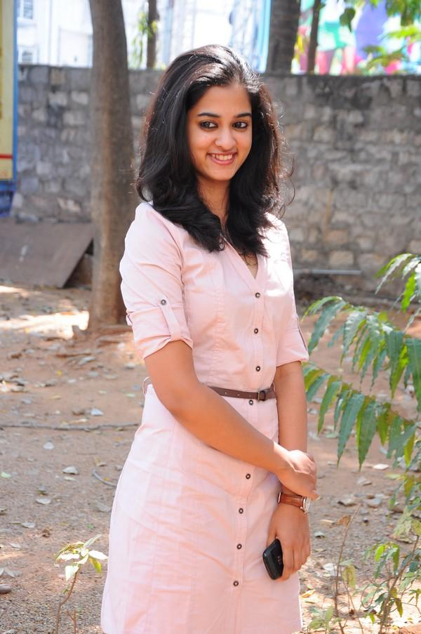 Nanditha In Pink Dress Beautiful Look At Prema Katha Chitram Movie Press Meet