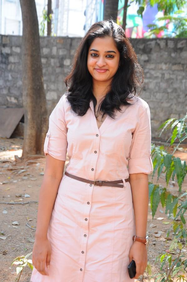 Nanditha In Pink Dress Cute Look At Prema Katha Chitram Movie Press Meet