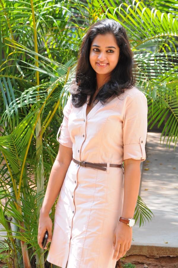 Nanditha In Pink Dress Glamour Look At Prema Katha Chitram Movie Press Meet