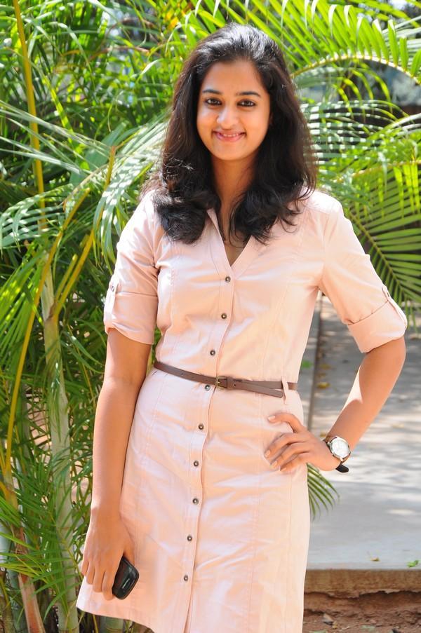 Nanditha In Pink Dress Stylish Look At Prema Katha Chitram Movie Press Meet