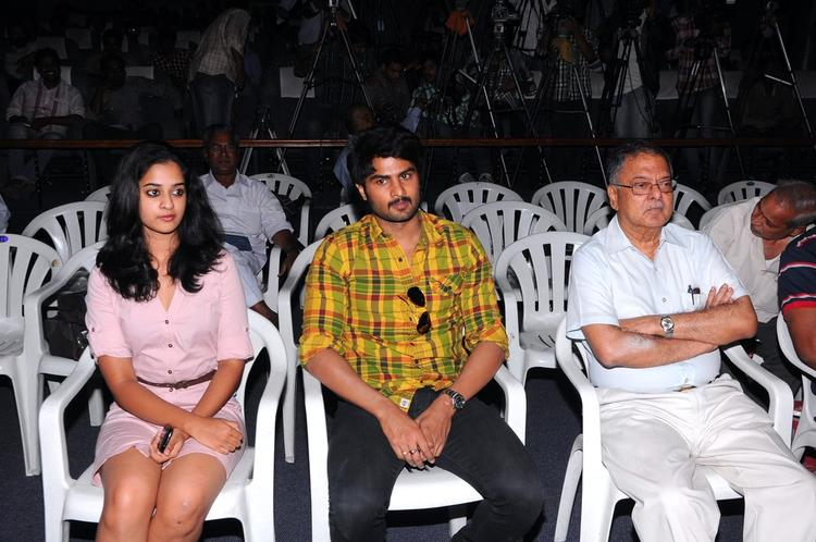 Nanditha And Sudheer Babu During The Prema Katha Chitram Press Meet