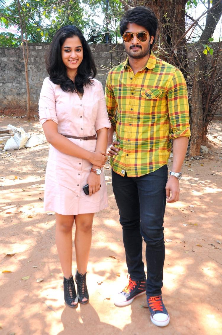 Nanditha And Sudheer Babu Posed For Camera At Prema Katha Chitram Press Meet