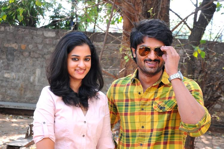 Nanditha And Sudheer Babu Posed At Prema Katha Chitram Press Meet