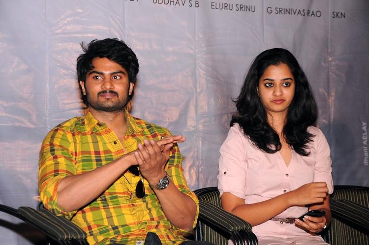 Sudheer Babu And Nanditha Spotted At Prema Katha Chitram Press Meet