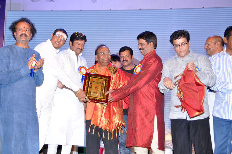 Celebs Are On The Stage At Dr.Rajendra Prasad Sanmanam Function