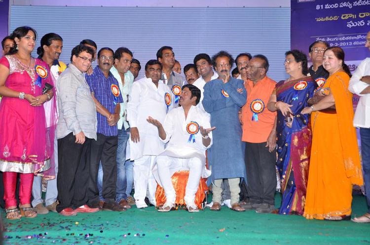 Dr.Rajendra Prasad,Anjali Devi And Others Posed At Dr.Rajendra Prasad Sanmanam Function