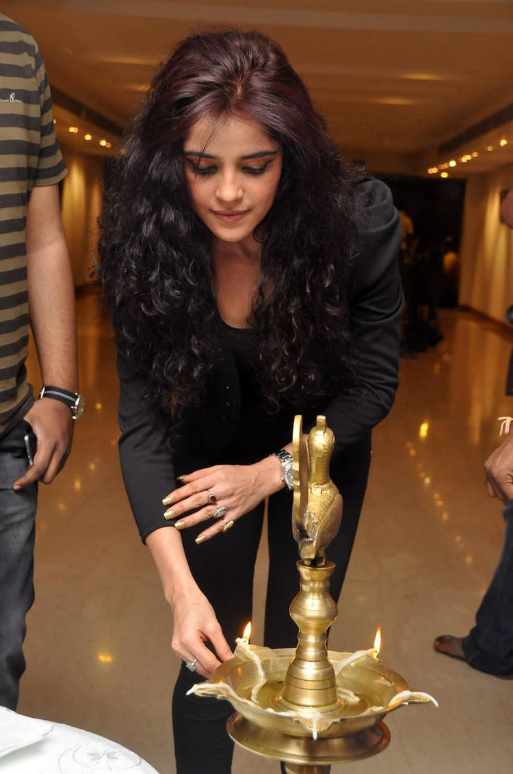 Piaa Bajpai Lightening The Lamp Photo Clicked At MUSE Art Gallery