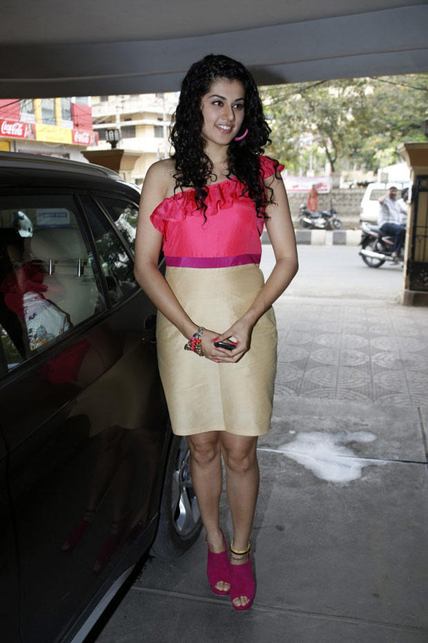 Taapsee Pannu Posed During The Radio Josh Launch Event