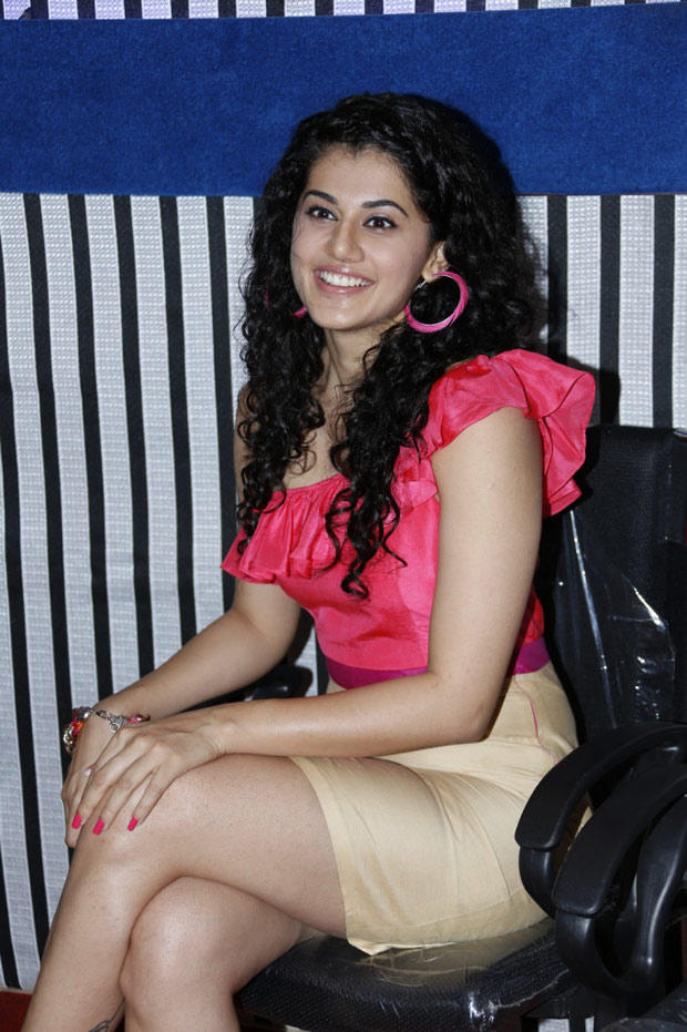 Taapsee Pannu Smiling Look At Radio Josh Launch Event