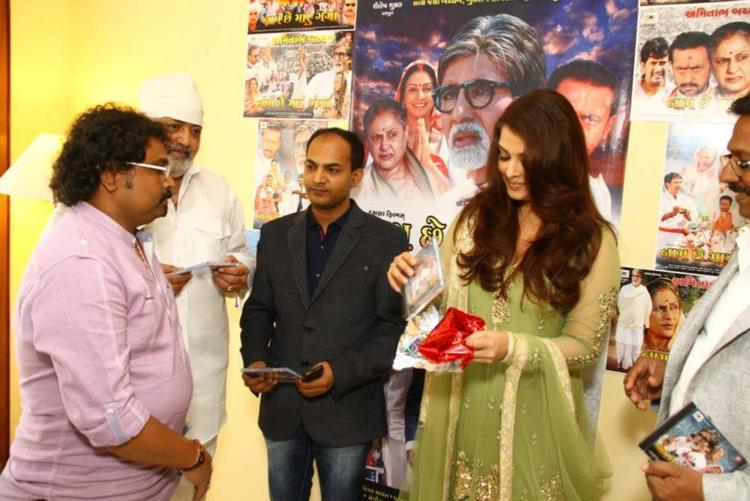 Aishwarya Launches The Audio CD At Naam Chhe Maru Ganga Film Audio Launch Event