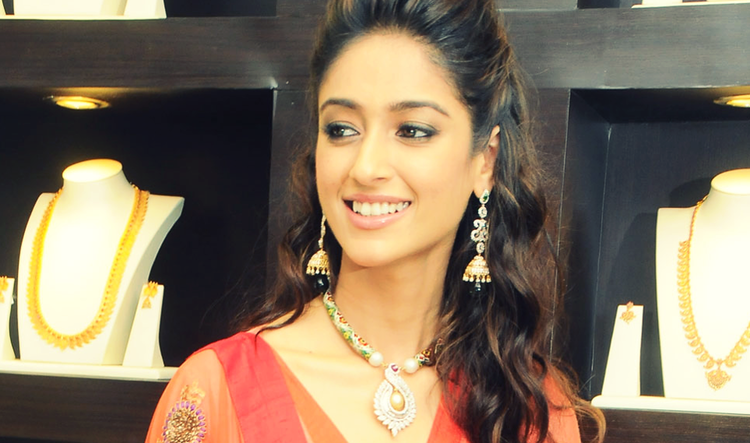 Ileana Looked Stunning In A Red Ensemble At Forever Jewellery Showroom Launch