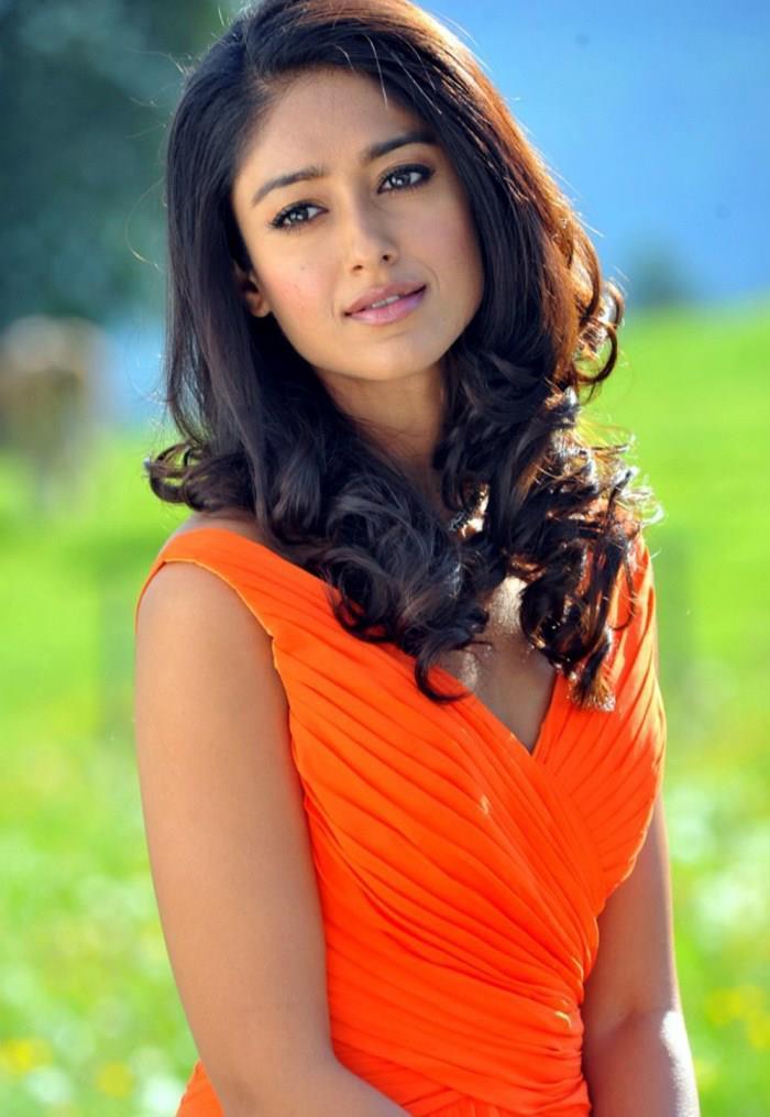 Ileana D'Cruz Complete Her Look With Flowing Hair In An Orange Gown