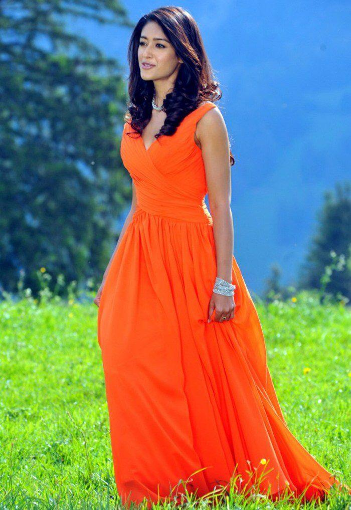Ileana D'Cruz Looked Radiant And Beautiful In Tangy Orange Dress