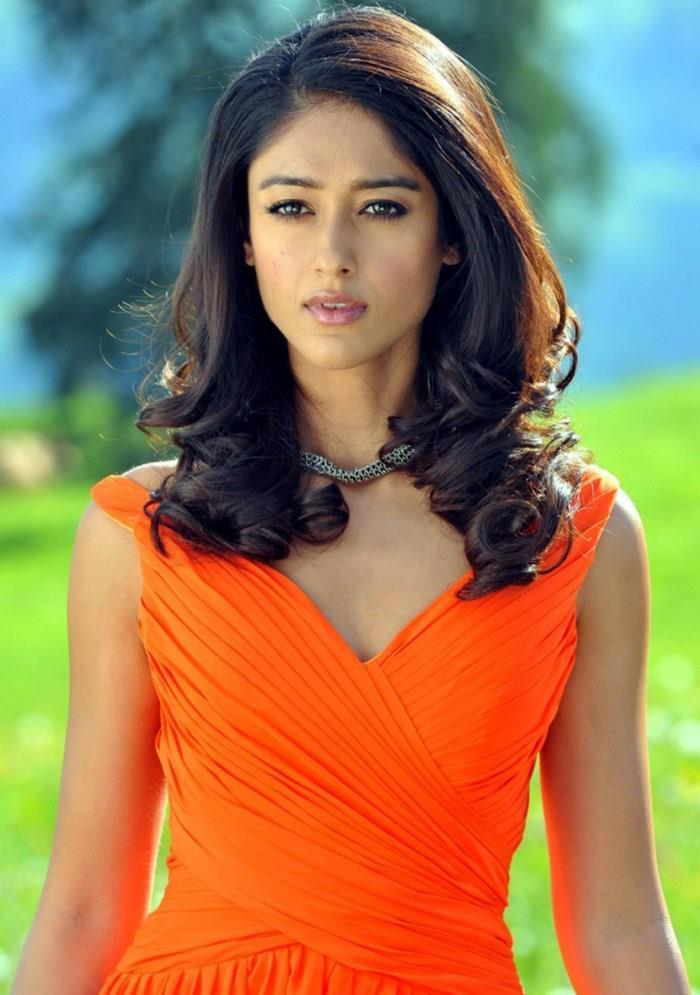 Ileana Sexy Look Photo Still In An Orange Dress