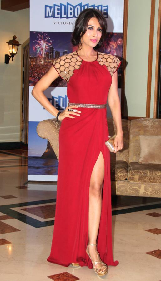 Malaika Looked Hot In A Red Gown At Indian Film Festival Of Melbourne