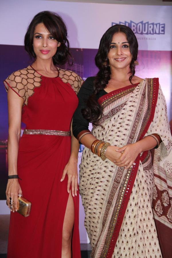Vidya And Malaika Smiling Pose At Indian Film Festival Of Melbourne