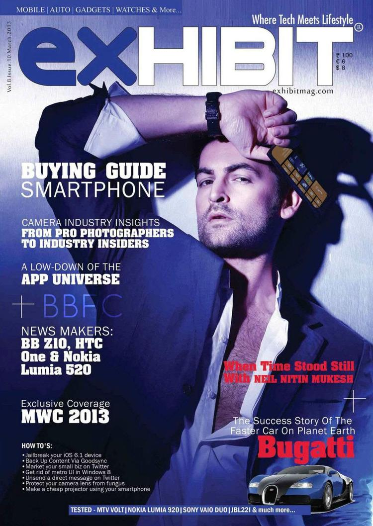 Neil Nitin Mukesh On The Cover Of Exhibit March 2013