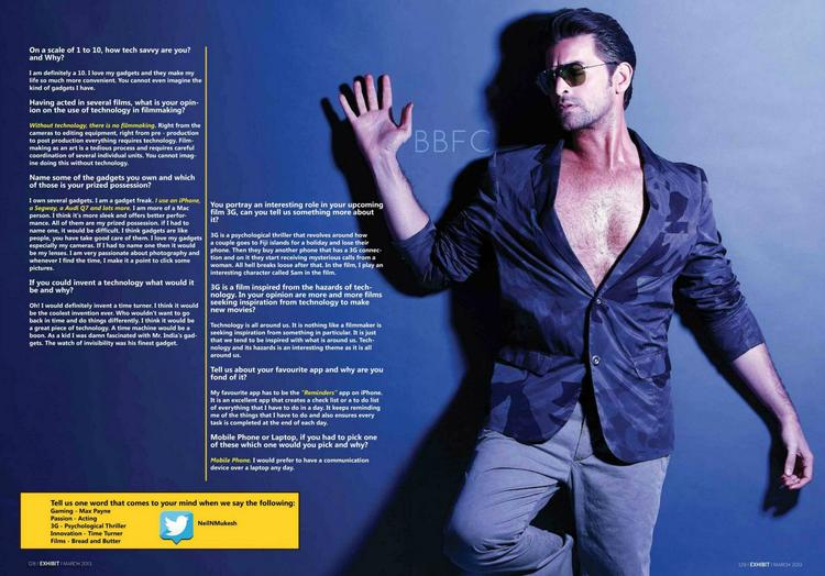 Neil Nitin Mukesh Hot Look Photo Shoot For Exhibit Magazine March 2013