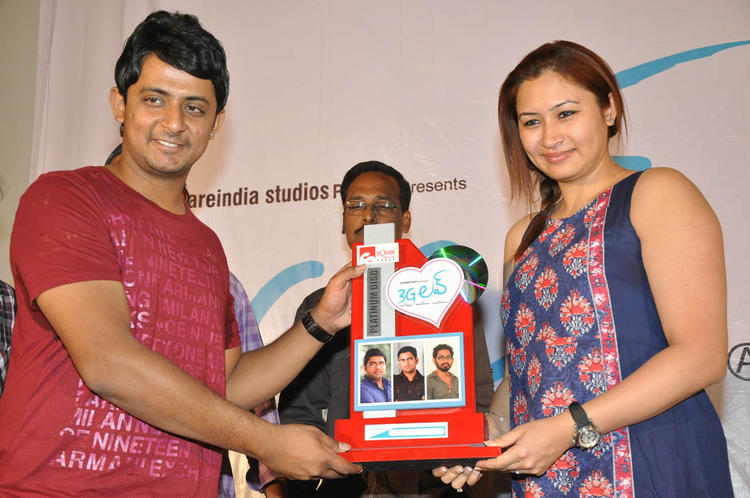 Jwala With Platinum Disc Posed For Photo At 3G Love Movie Platinum Disc Function