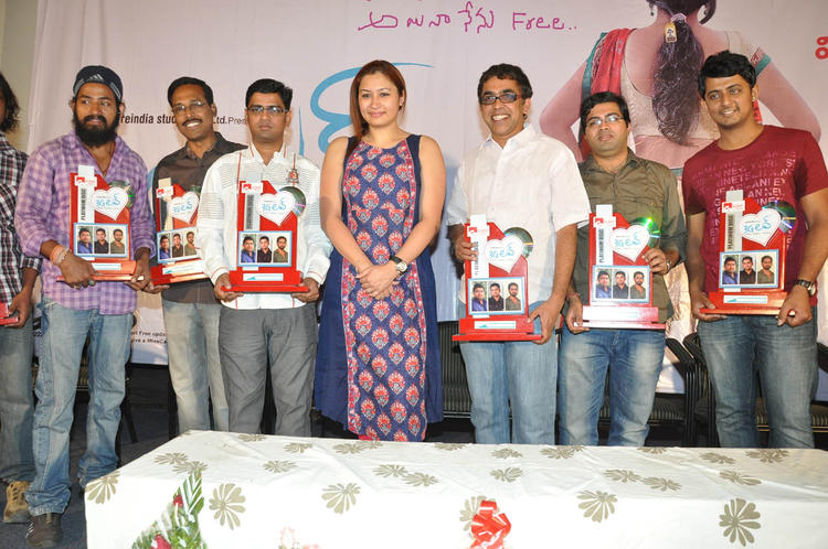Jwala With Team On Stage At 3G Love Movie Platinum Disc Function