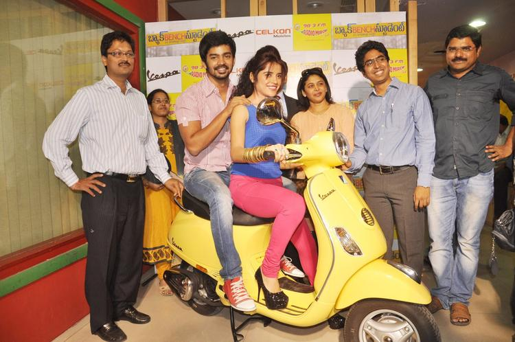Piaa,Mahat And Madhura Snapped At Radio Mirchi FM Studio During Promotion Of Back Bench Student