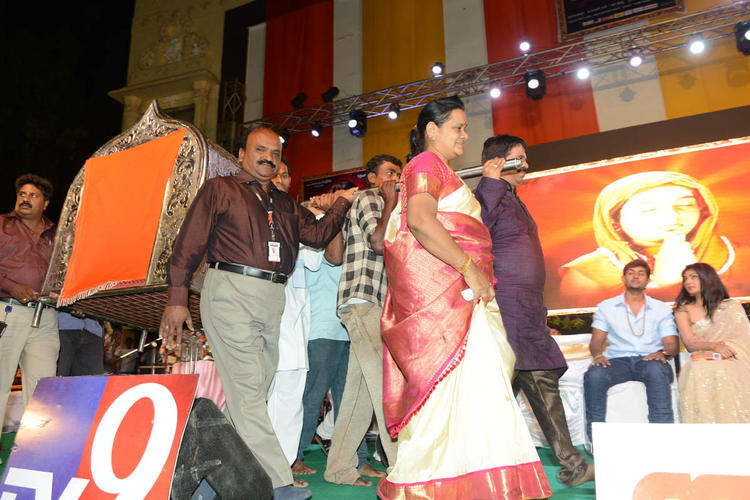 Kaushik And Kamalini Snapped On Stage At Jagadguru Adi Shankara Audio Launch