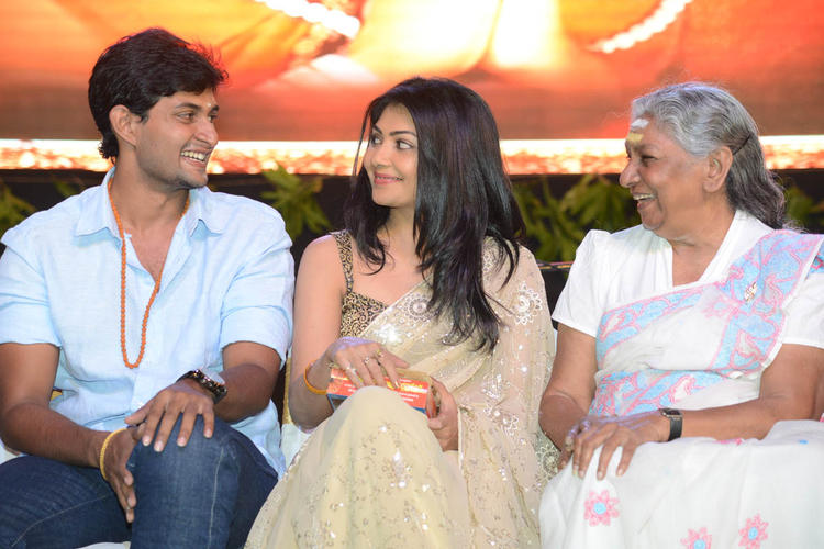 Kaushik,Kamalini And Janaki  Snapped At Jagadguru Adi Shankara Audio Launch