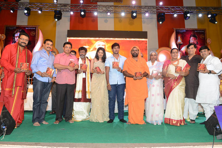 Kaushik,Saraswati Swami,Kamalini,Janaki And Sai Kumar Posed At Jagadguru Adi Shankara Audio Launch