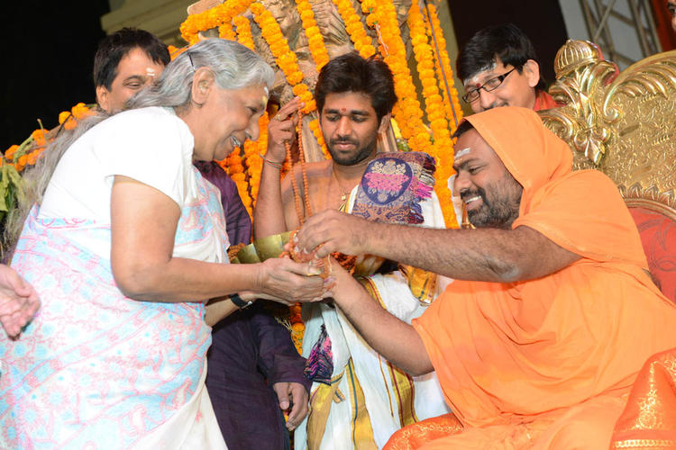 Saraswati Swami And Janaki Photo Clicked At Jagadguru Adi Shankara Audio Launch