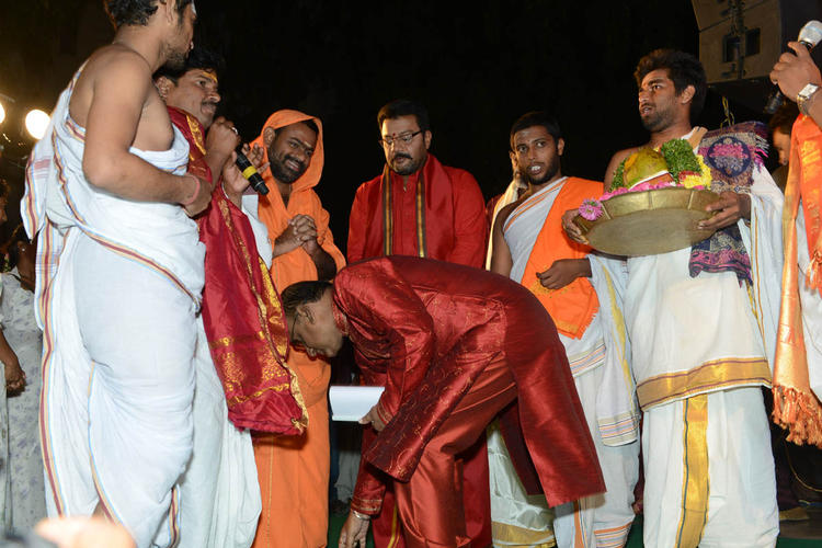 Saraswati Swami Give His Blessings At Jagadguru Adi Shankara Audio Launch