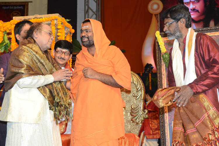 Saraswati Swami Make An Appearance At Jagadguru Adi Shankara Audio Launch