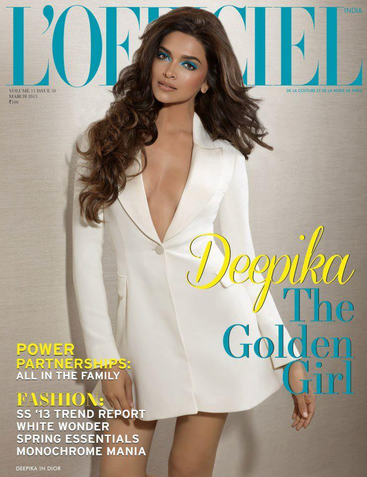 Deepika Padukone Hot On The Cover Of L'Officiel India March 2013