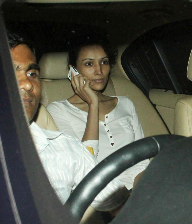 Dipannita Photop Clicked In Car At The Success Meet Of Oscar Winning Film Lincoln