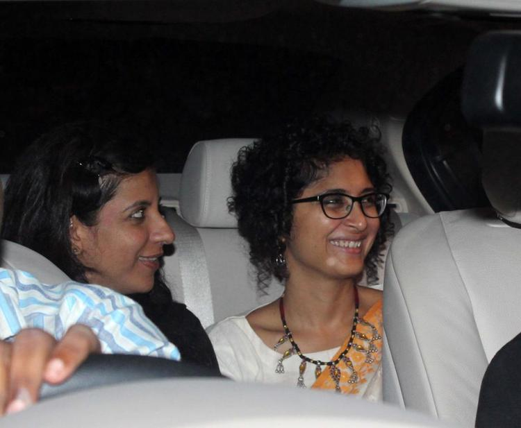 Kiran And Zoya Snapped In Car On Their Way To Celebrate The Success Of Oscar Winning Film Lincoln
