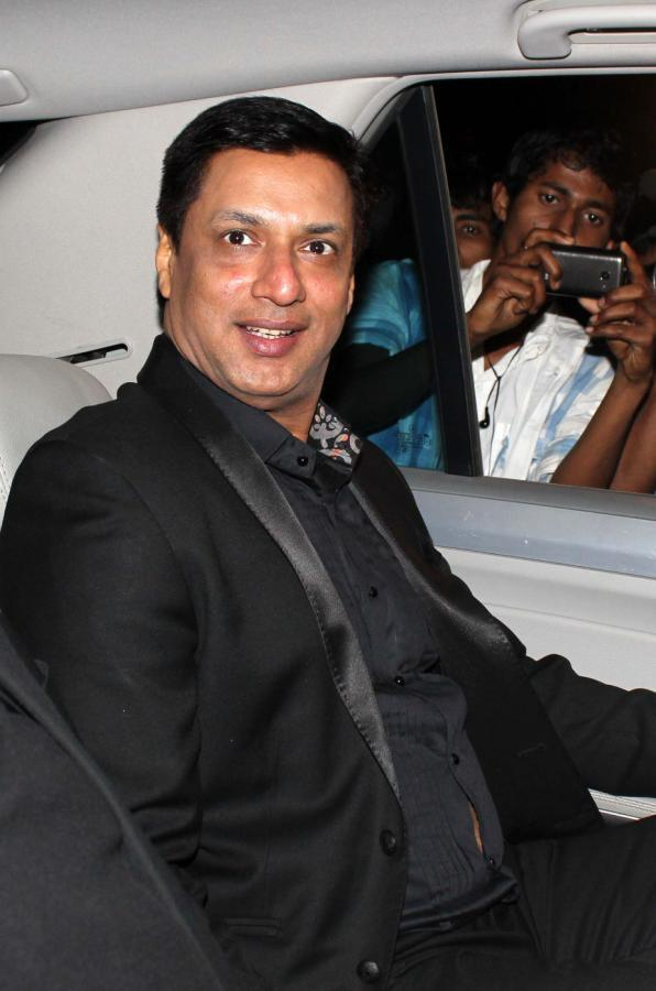 Madhur Pose For Camera At The Success Meet Of Oscar Winning Film Lincoln
