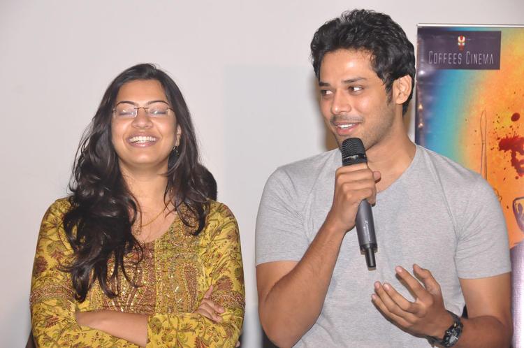 Geeta Madhuri Smiling Look At Pizza Movie 25 Days Function