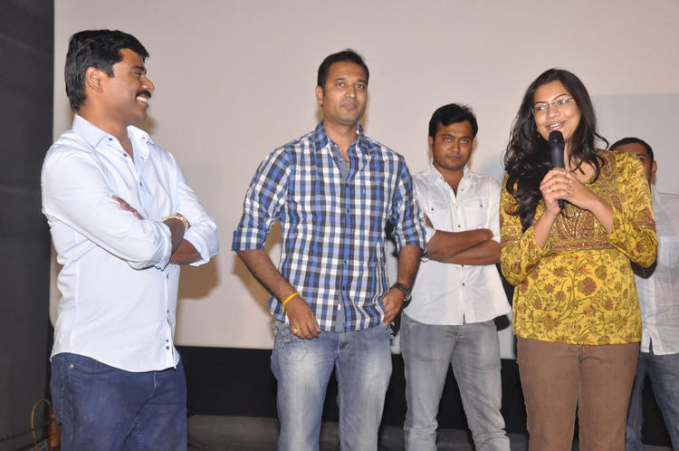 Geeta Madhuri Speaking Still At Pizza Movie 25 Days Function