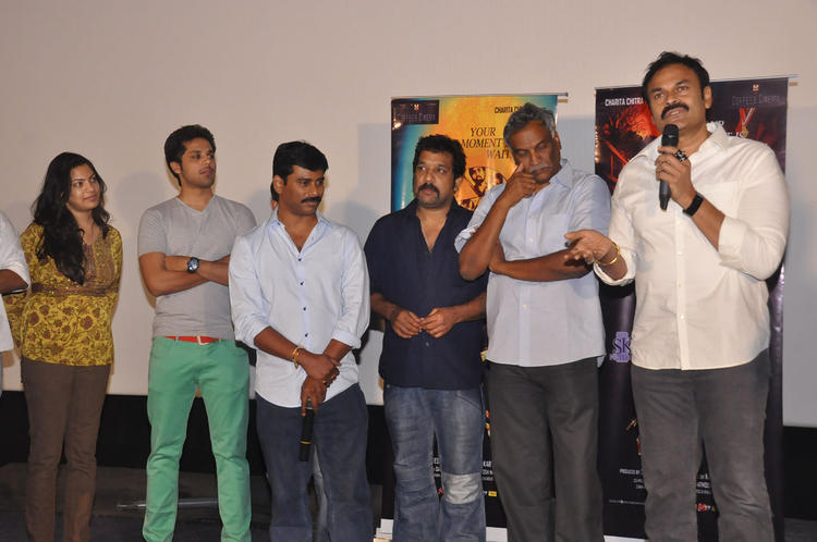Geeta,Tammareddy And Nagendra Babu Posed For Camera At Pizza Movie 25 Days Function