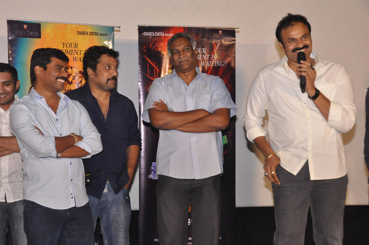 Nagendra Speaking Still And Tammareddy Looks On At Pizza Movie 25 Days Function
