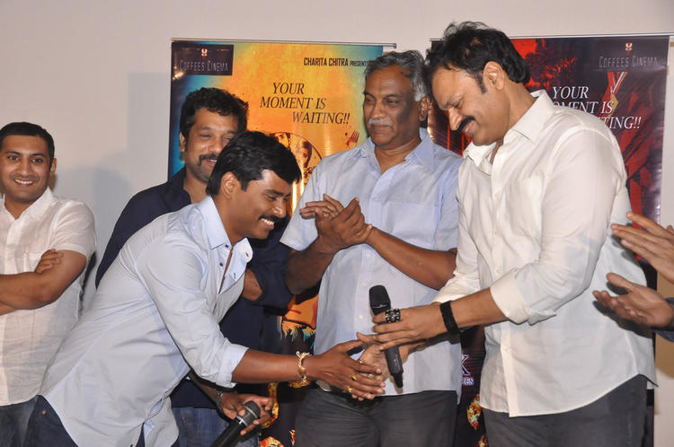 Tammareddy And Nagendra Babu Cool Pose At Pizza Movie 25 Days Function