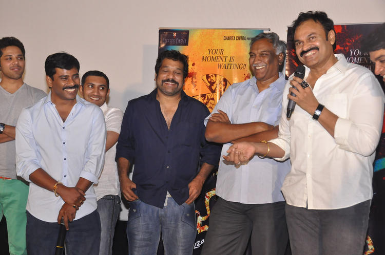 Tammareddy And Nagendra Babu Cool Smiling Look At Pizza Movie 25 Days Function